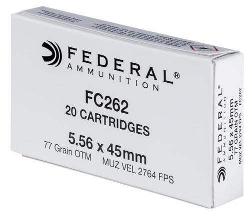 Federal Rifle Ammunition, 5.56 NATO, Open Tip Match, 77 Gr, 20rd Box