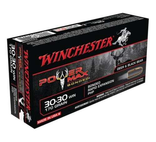 Winchester Power-Max .30-30 Winchester 170gr, Protected Hollow Point Bonded 20rd Box