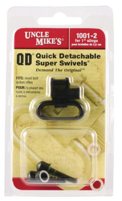 "Uncle Mike's 1"" Black Quick Detach Sling Swivels"