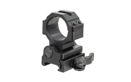 Leapers, Inc. - UTG Ring, Fits Picatinny/Weaver, 30mm, Black, Flip-To-Side, Quick Detach Ring Mount