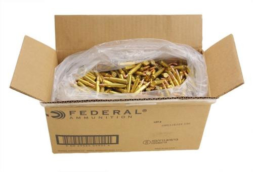 Federal .223 Rem 55gr MC, 1000rd Bulk Packaged
