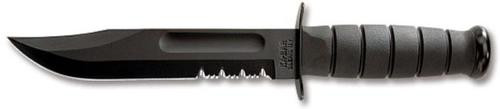 Kabar Fighting/Utility Knife, Partially Serrated Edge & Sheath