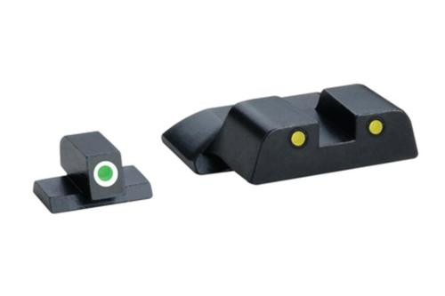 Ameriglo Operator Night Sights for S&W M&P Green with White Outline Front Yellow with Black Outline Rear
