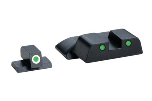 Ameriglo Operator Night Sights for S&W M&P Green with White Outline Front Green with Black Outline Rear