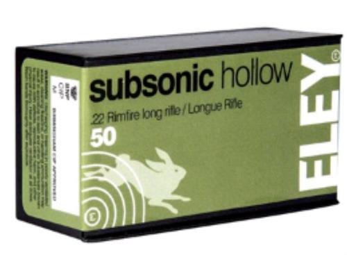 Eley 22LR Subsonic 40gr, HP, 50rd Box