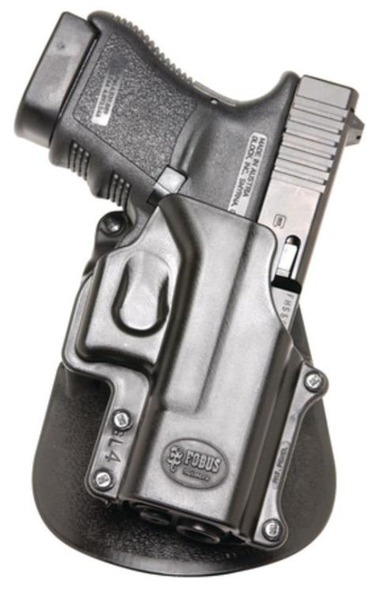 Fobus Paddle Holster, Fits Glock 29/30/39/21SF/30SF,S&W 99, S&W Sigma Series V, Right Hand, Kydex, Black