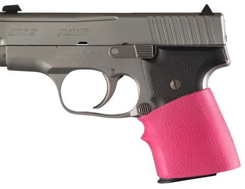Hogue HandALL Jr. Slip-On Grip, Small Textured Pink Rubber