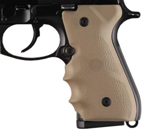 Hogue Beretta 92/96 Series Rubber Grip, Finger Grooves Desert Tan