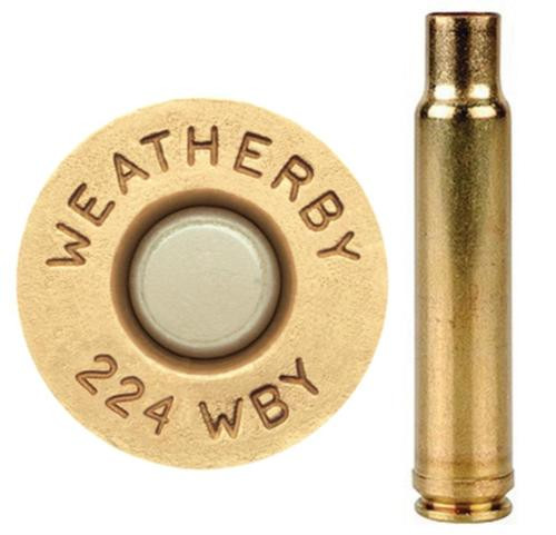 Weatherby Unprimed Brass 224 Weatherby Magnum Lightweight 20 Per Box