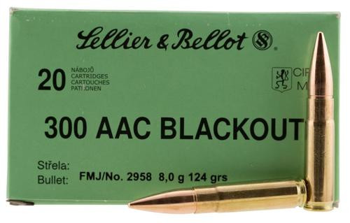 Sellier & Bellot 300 Blackout 124gr, FMJ, 20rd Box