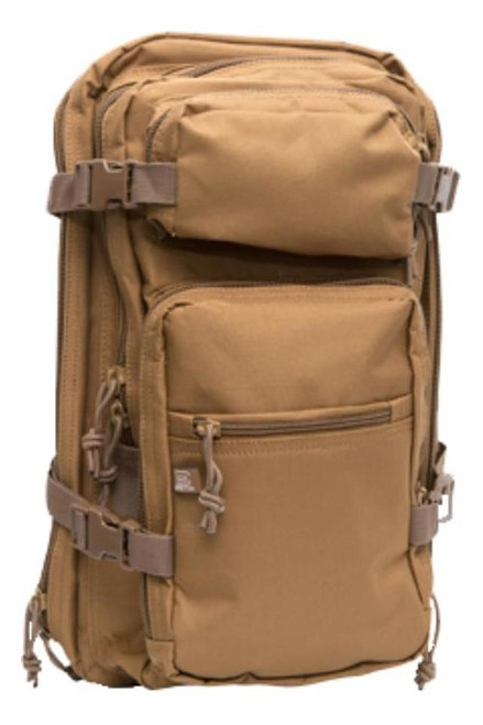 """Glock Backpack Multi-Purpose 600D Polyester 18""""x11""""x 11"""" Coyote"""