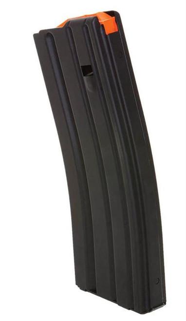 DURAMAG Magazine, 223 Rem/556NATO, 30Rd, Black, Fits AR Rifles, Stainless Steel, Orange Anti-Tilt AGF Follower