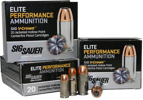 Sig Ammo 9MM 115Gr Elite V-Crown JHP 20rd Box