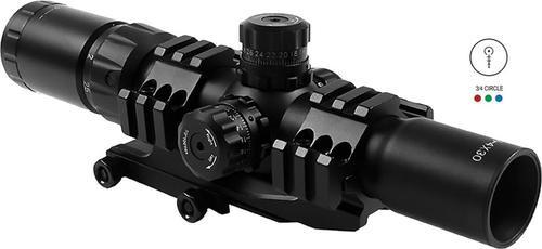 Aim Sports CQB 1.5-4x 30mm Illuminated 3/4 Circle Lock Turrets