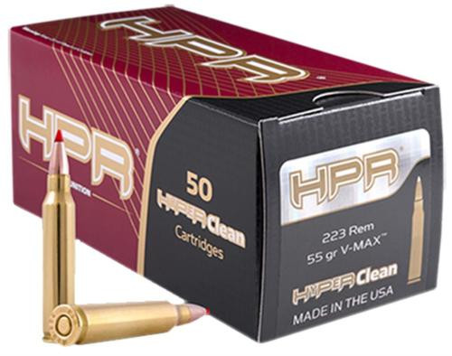 HPR V Max .223/5.56 NATO 60gr, V-Max, 50rd/Box, 20 Box/Case