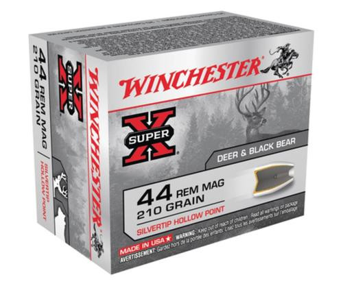 Winchester Super X 44 Rem Mag Silvertip HP 210gr, 20Box/10Case