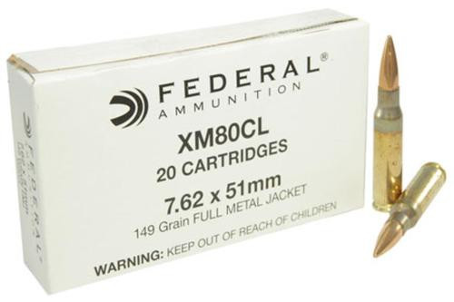 Federal American Eagle 7.62x51mm (.308 Win), 149gr, FMJ, 20rd Box