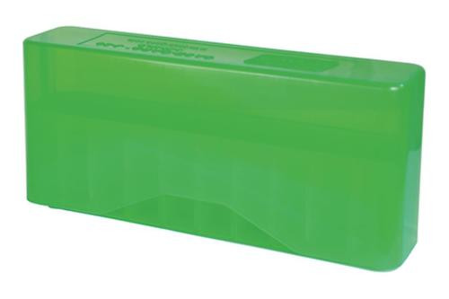 MTM Case Gard J-20 Slip-Top Boxes .270 to .450 Caliber Clear Green