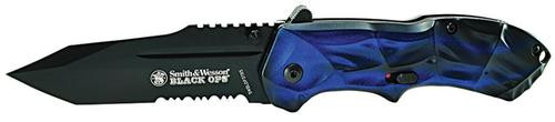 """Smith & Wesson Knives Black Ops Folder 3.4"""" 4034 Stainless Steel Drop Point Ta"""