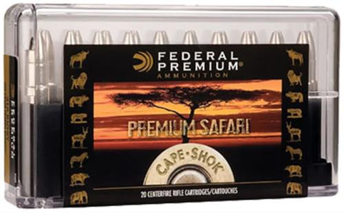 Federal Cape-Shok 458 Win Mag Trophy Bonded Bear Claw 400gr, 20Box/10Case
