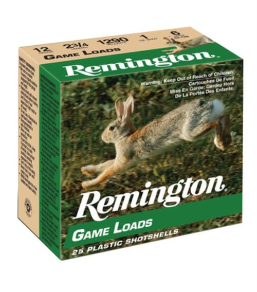 "Remington Game Loads 12 Ga, 2.75"", 1290 FPS, 1oz, 6 Shot, 250rd/Case (10 Boxes of 25rd)"