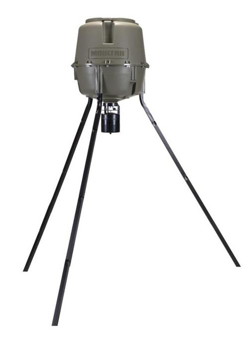 Moultrie 30 Gallon Pro-Lock Tripod Feeder Holds Up To 200lbs