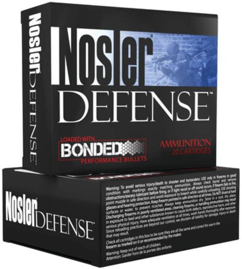 Nosler Defense Bonded .40 S&W 200gr Bonded Jacketed Hollow Point 20rd Box