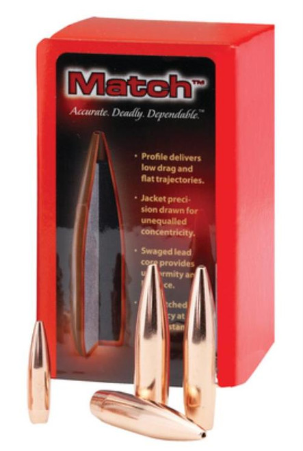 Hornady Match Bullets .308 Diameter 178gr, Boat-tail Hollow Point, 100/Box