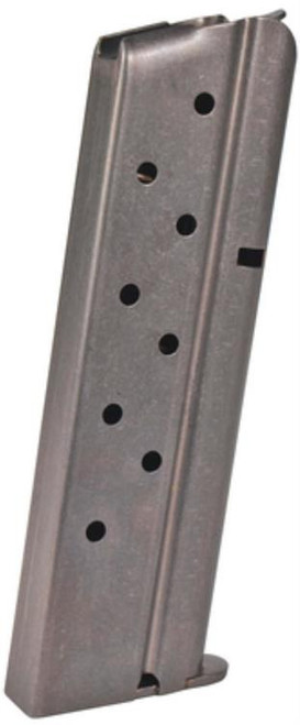 Colt Government 38 Super Magazine, Stainless Finish, 9rd