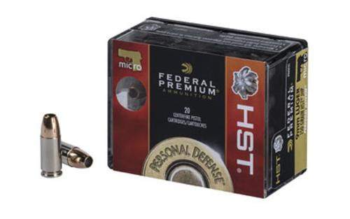 Federal Premium 9mm 150gr, Jacketed Hollow Point, 20rd Box