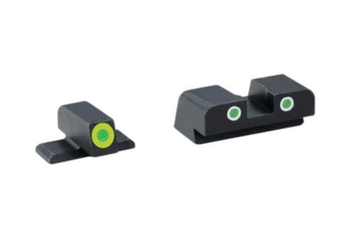 Ameriglo Tritium Front/Rear Combo Sights Green Dot White Outline Rear and Green Dot LumiLime Outline Front For SIG #8
