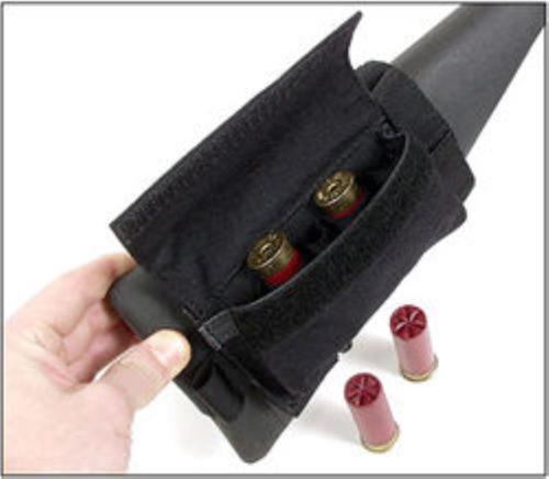 Blackhawk Buttstock Shot Shell Holder, Holds 5, Black