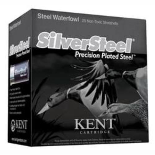 "Kent Silver Steel 12 ga, 3"", 1 1/4 oz, 2 Shot, 25rd Box"
