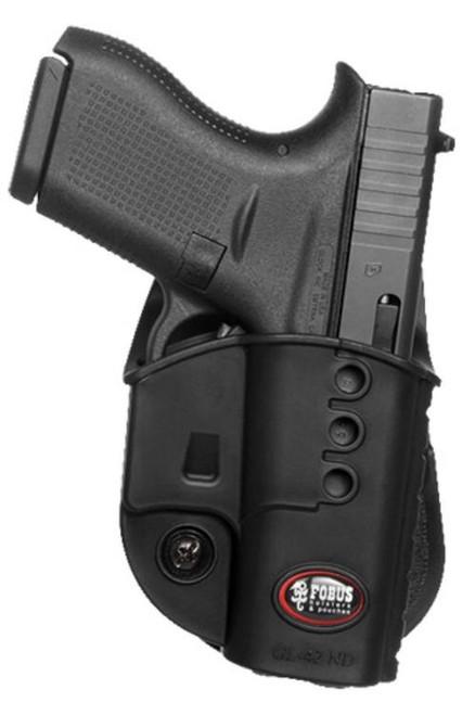 Fobus Evolution Paddle Holster, Glock 42, Black, Polyer, RH