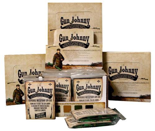 "Gun Johnny Disposable Waterproof Gun Bag Treated Plastic 12""x70"" Asst, 24/Case"