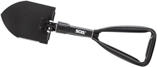 S.O.G Entrenching Tool Shovel Steel Black Powder Coat Plain/Serrated Steel