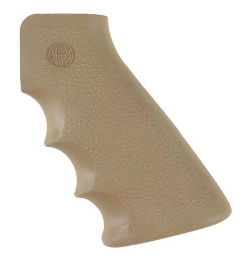 Hogue AR-15 Overmolded Rubber Grip, Finger Grooves Matte Desert Tan