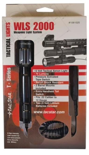 Tac-Star Weapons Light System 2000 LED 150 Lumens CR123A (2) Alum Black