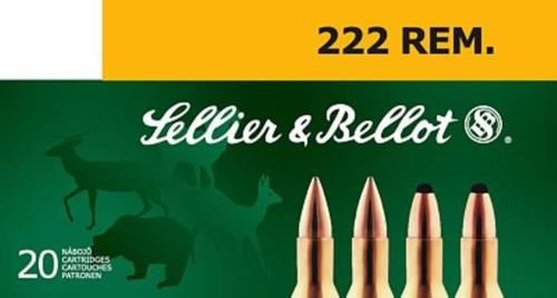 Sellier and Bellot 222 Remington 50 SP 20Rd/Box