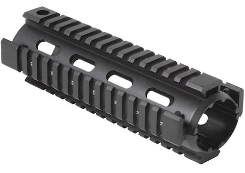 """Firefield Quad Rail M4 6"""" Aluminum Black"""
