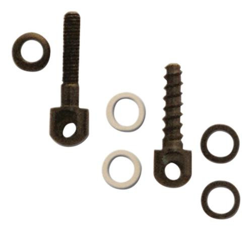 """GrovTec US, Inc. GT Small Parts Pack One 7/8"""" Machine Screw Swivel Stud And Nut One 3/4"""" Wood Screw"""