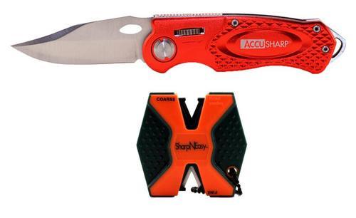 Accusharp 2Step Knife Sharpener/Sport Knife Combo Ceramic Fine/Coarse
