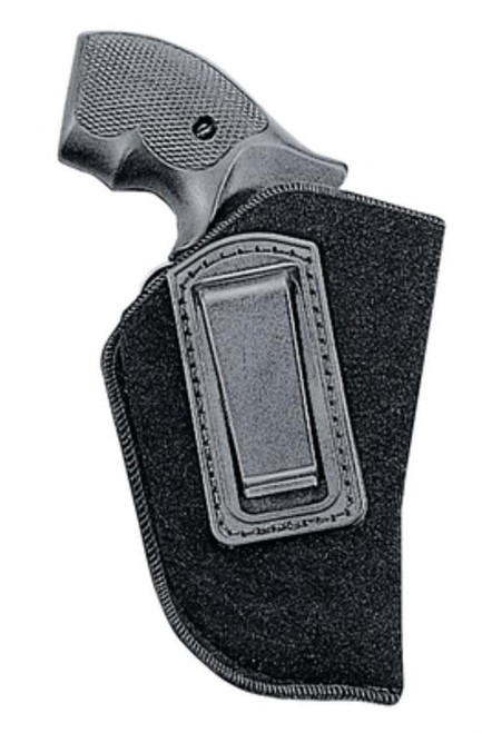Uncle Mike's Inside the Pants Holster 10-1 .22-.25 Autos, RH, Black Soft Suede/Laminated