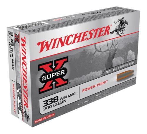 Winchester Super X 338 Win Mag Power-Point 200gr, 20Box/10Case