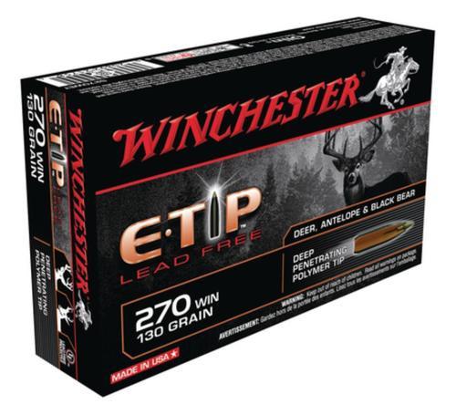 Winchester E-Tip Lead-Free .270 Winchester 130 Grain E-Tip Lead Free