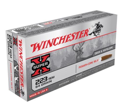 Winchester Super-X Power Core .223 Rem 64gr, Power Core 95-5 20rd Box