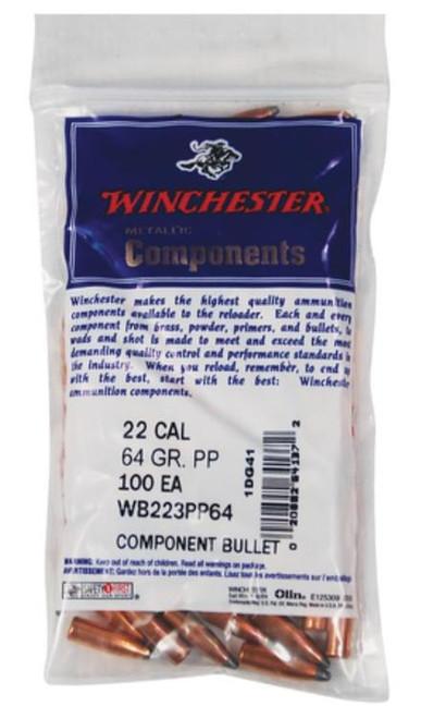 Winchester Centerfire Rifle 22 Caliber .224 64gr, Power-Point 100 Bag