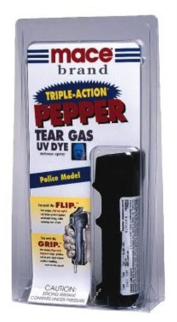 Mace Triple Action Pepper Spray Contains 10, One Second Bursts 18gr 8-10ft