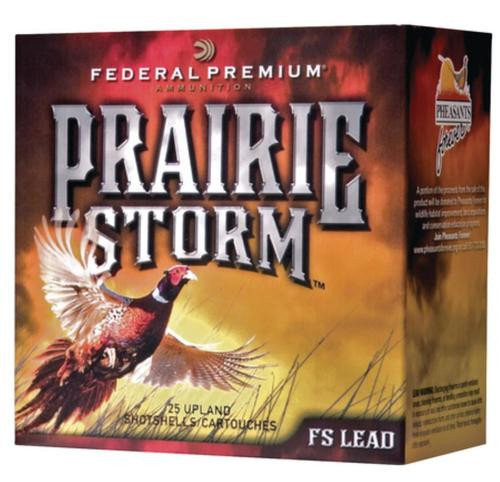 "Federal Premium Prairie Storm FS Lead 20 Ga, 2.75"", 1350 FPS, 1oz, 5 Shot, 25rd/Box"