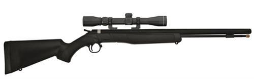 "CVA Wolf 209 Muzzleloader .50 Caliber 24"" Blue Barrel Ambidextrous Composite Stock Black With KonusShot 3-9x32mm Scope and Padded Soft Case"